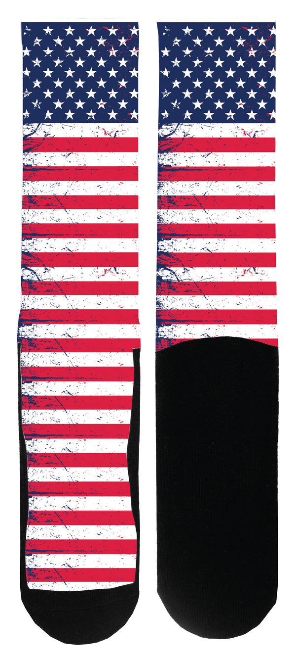 Tattered Flag Sock - Tough Tie