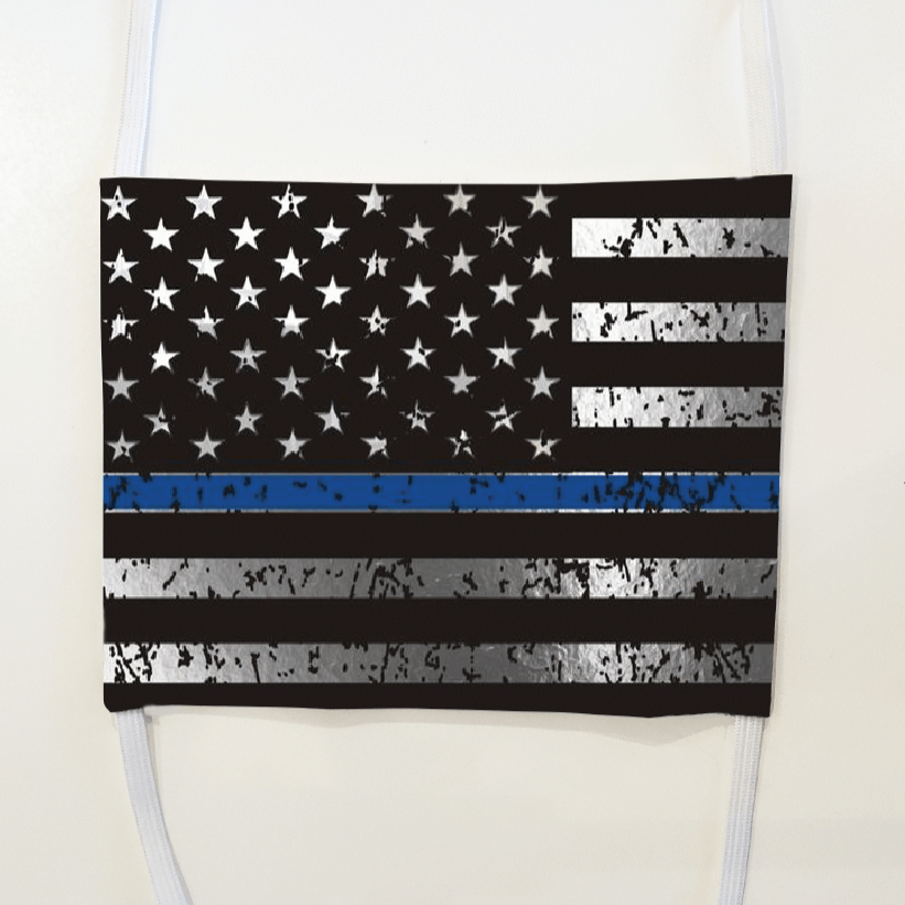 Thin Blue Line Mask (washable and moisture barrier)