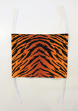 Tiger Stripe Mask (washable and moisture barrier)