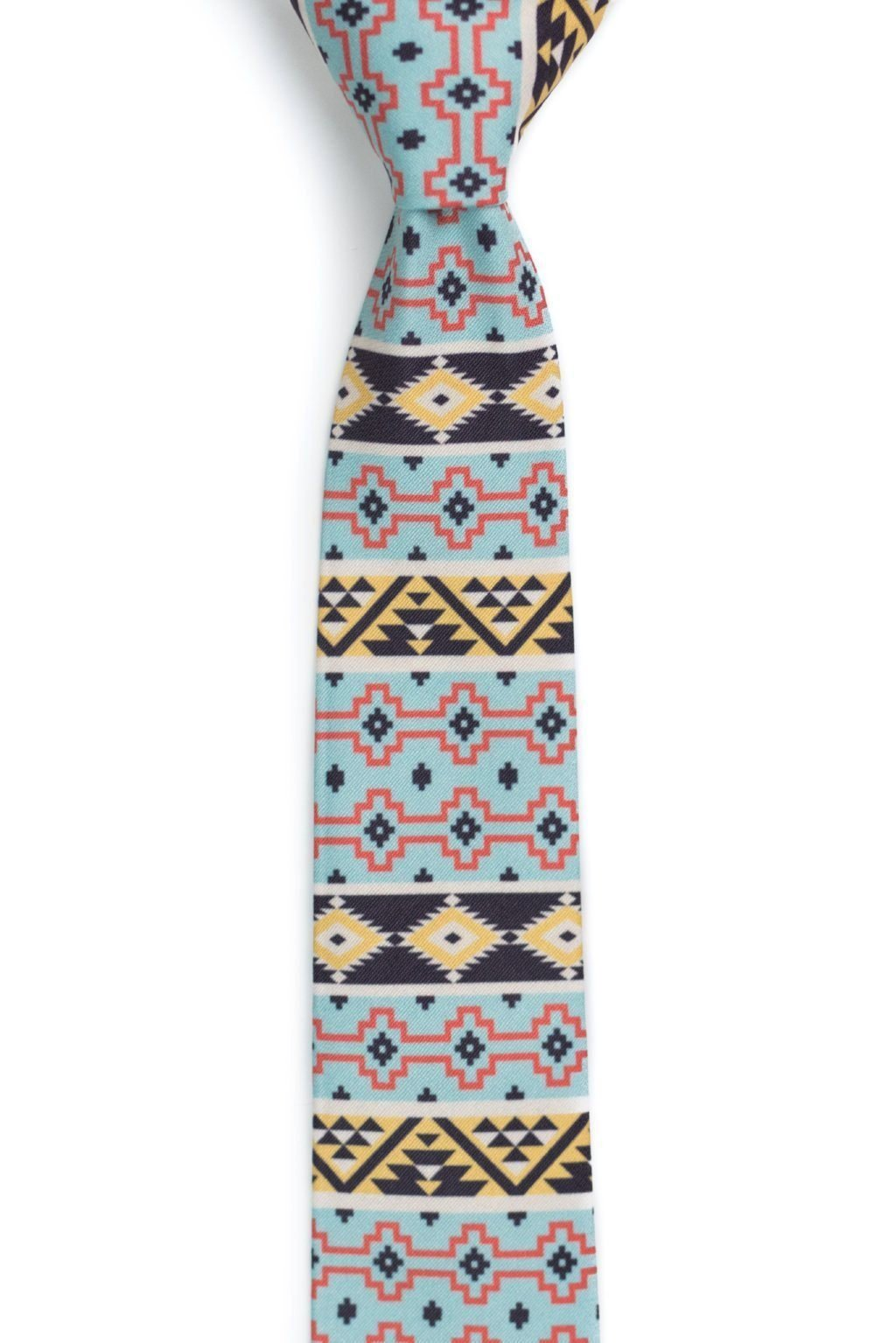 Zuma - Blue, Brown and Yellow Aztec Tie