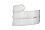 White Leather Strap - Tough Tie