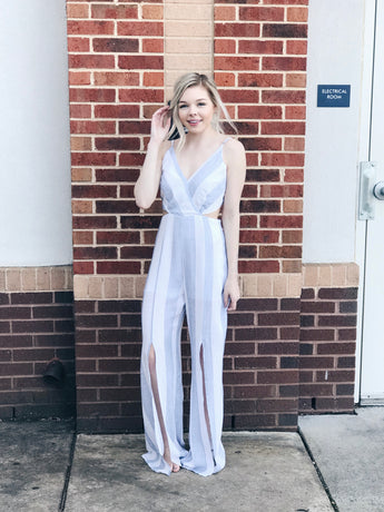 Sadie Striped Cut-Out Jumpsuit