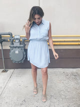 Maddie Button Down Tank Dress