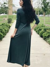 Hemingway Ribbed Long Sleeve Dress