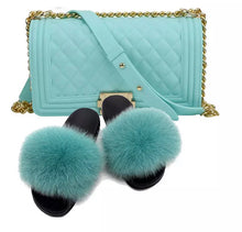Fur Slide & Purse set