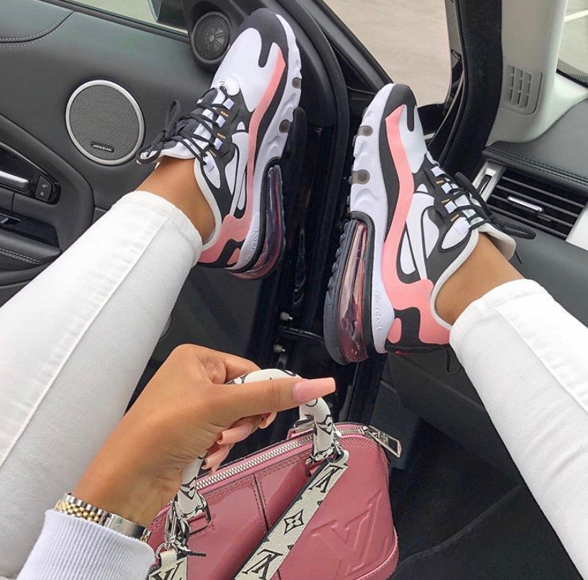 Peach White & Black Nike Air Max 270 React