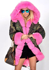 Fox Fur Camo Coat
