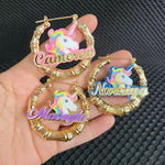 Unicorn Custom Earrings