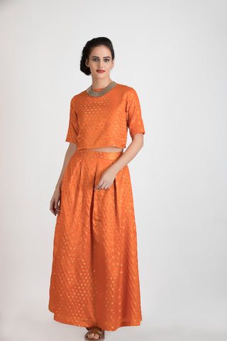 Marigold Co-ord set in Orange