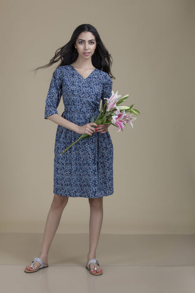 Leela Wrap Blue Rose