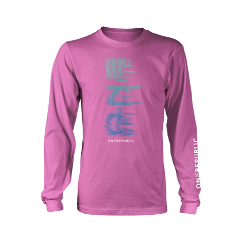 Glitch Pink Long Sleeve