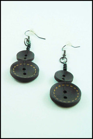 Whimsical Button Drop Earrings