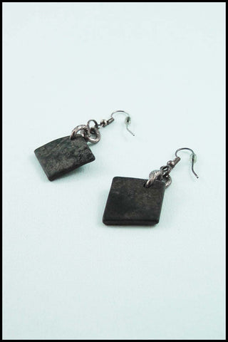 Faux Slate Drop Earrings