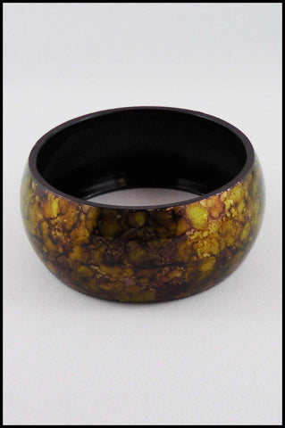 Tortoise Shell Patterned Metal Bangle