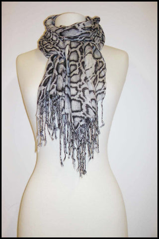 Ultra-soft Snakeskin Printed Scarf