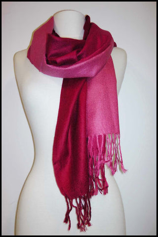 Pashmina Scarf with Ombre Colour Variation
