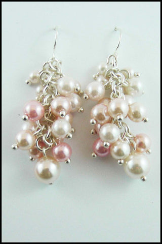 Cluster Imitation Pearl Jewellery Set