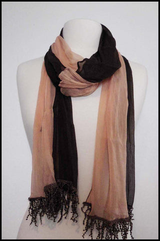 Two Tone Sheer Scarf