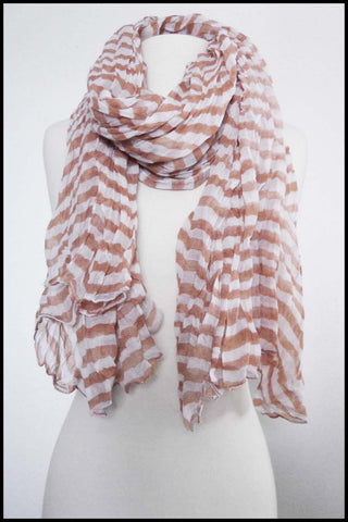 Soft Oversize Candy Striped Wrinkled Scarf