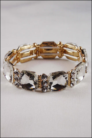 Cube Crystal Stretch Bracelet