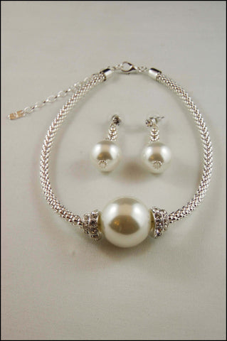 Popcorn Chain Large Pearl Necklace Set