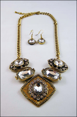 Crystal Victorian Necklace Set