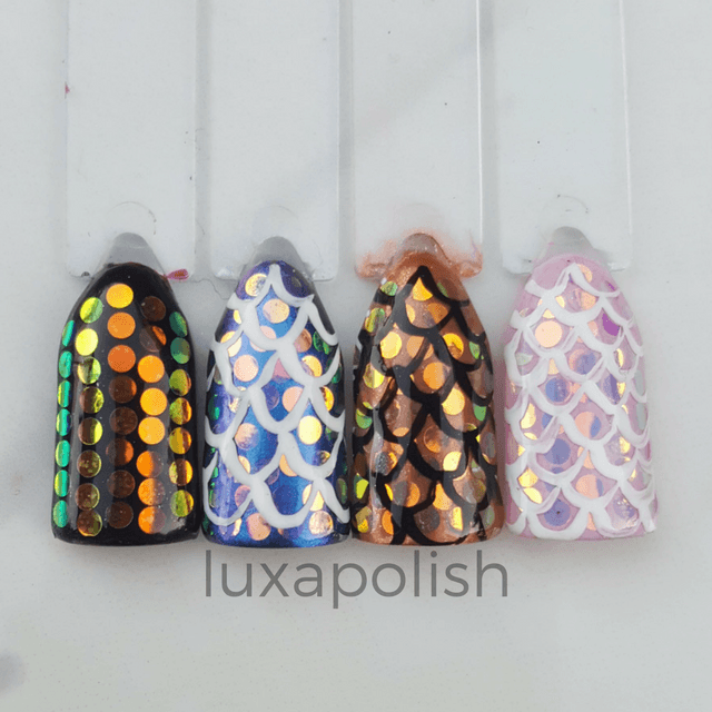 Mermaid Scales - Transparent AB Glitter - 2mm - LUXAPOLISH
