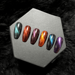CATS EYE PIGMENT SET (6) - LIMITED EDITION - LUXAPOLISH