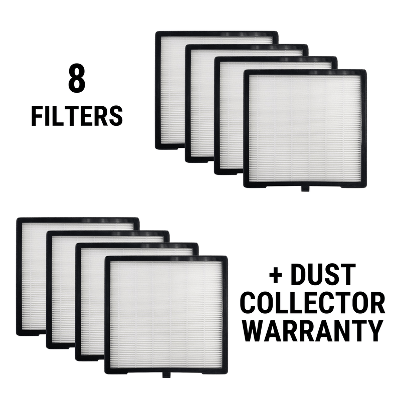 Dust Collector Warranty + 8 Filters