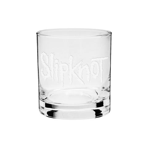 Etched Logo Whiskey Glass