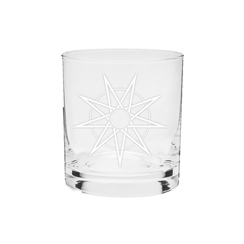 Star Etched Whiskey Glass