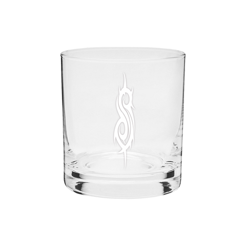 S Etched Whiskey Glass