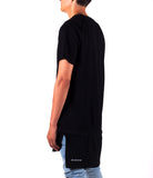 Black Elon Extended Zip-Hem Shirt