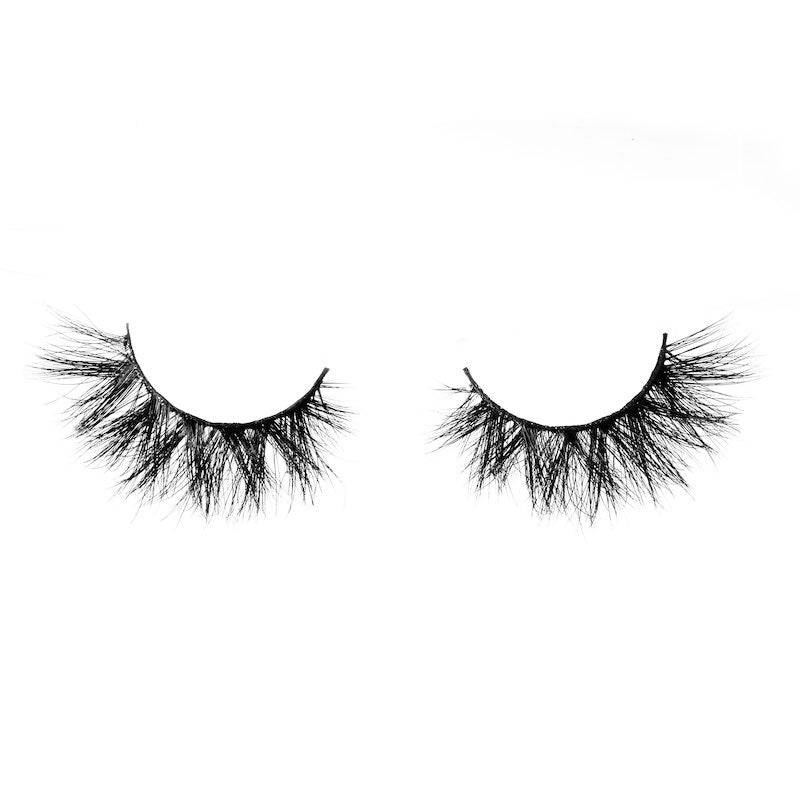 This 100% handmade false eyelash is long lasting - Glamazon Faux Mink Eyelashes by Coloured Raine Cosmetics.
