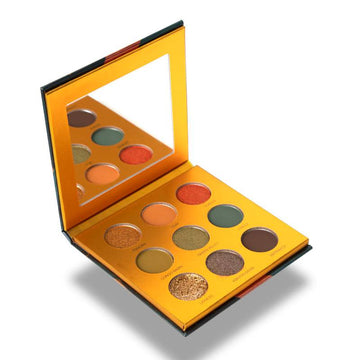 9 pan earth-toned eyeshadow palette - Safari Raine by Coloured Raine Cosmetics