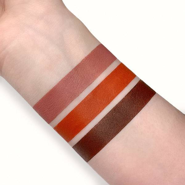 Safari Raine Lipstick Collection swatched on light skin