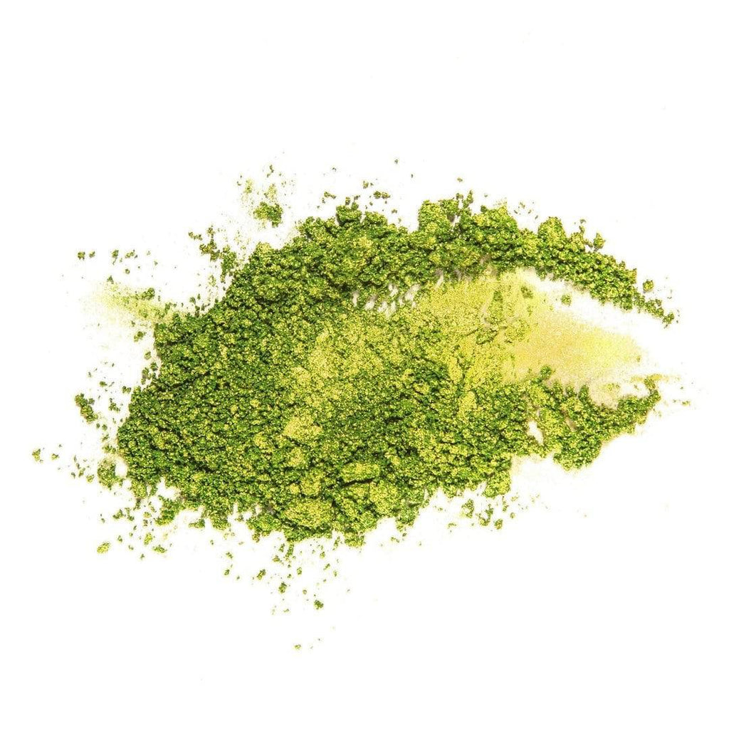 Bay Breeze lime green eyeshadow powdered