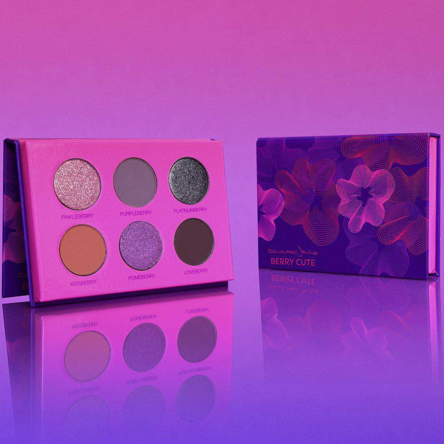 Berry Cute™ cool-toned eyeshadow palette by Coloured Raine Cosmetics