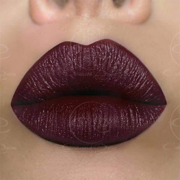 Deepest Red Lipstick - Boudoir Satin Lipstick by Coloured Raine Cosmetics