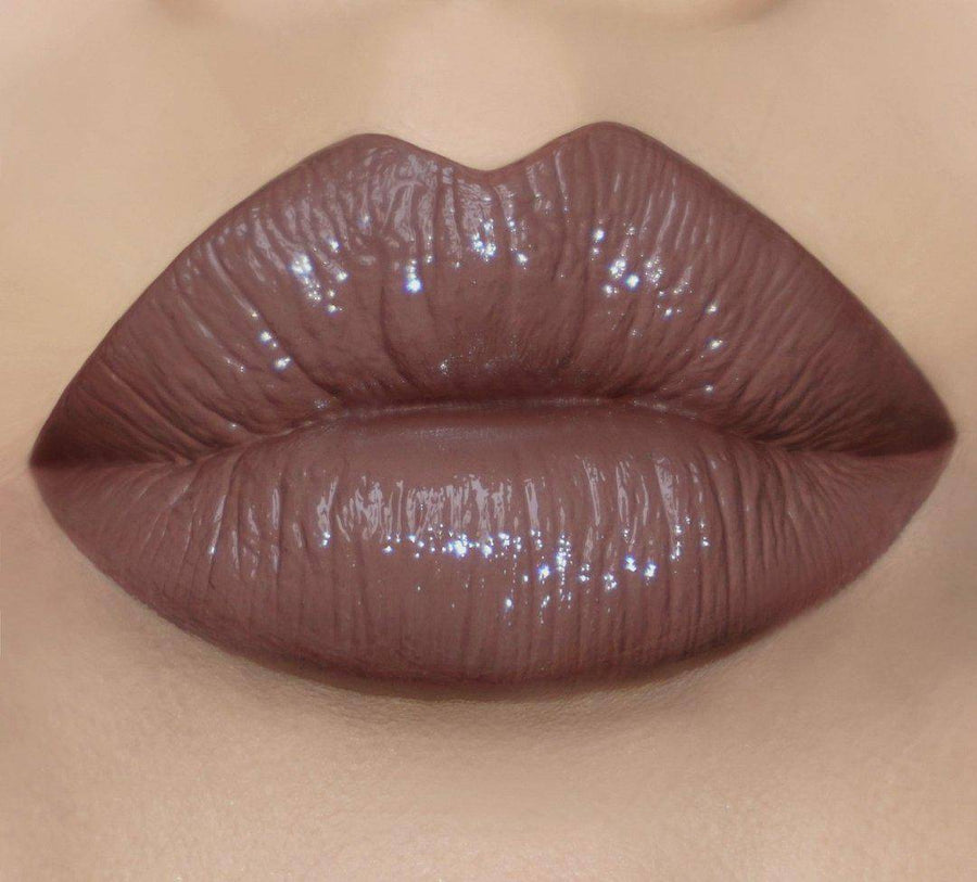 Brown lip lacquer with a hint of purple - Brown Sugar - Coloured Raine Cosmetics