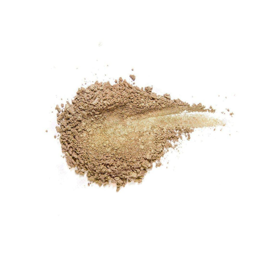Champagne golden eyeshadow powdered
