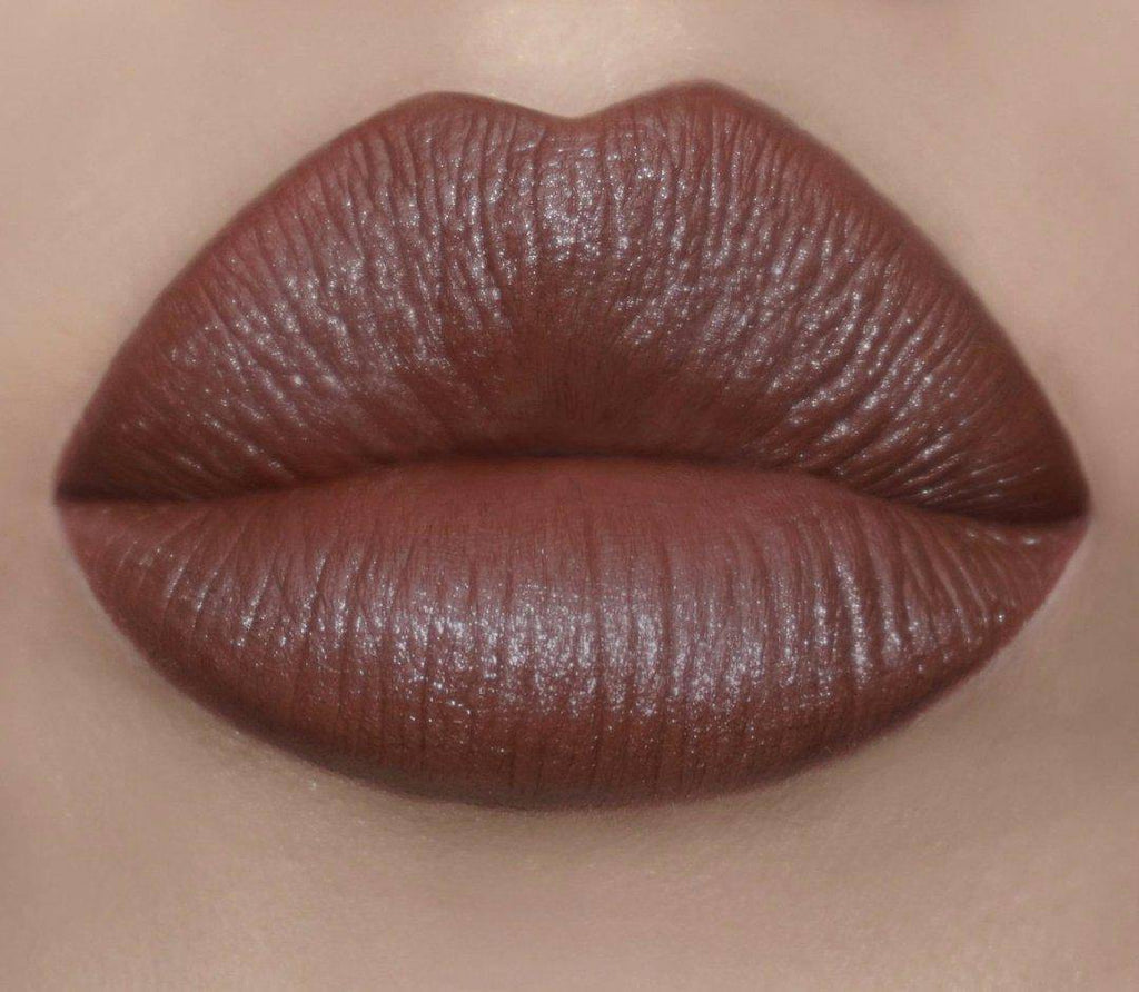 A gorgeous true brown lipstick - Chocolip by Coloured Raine Cosmetics