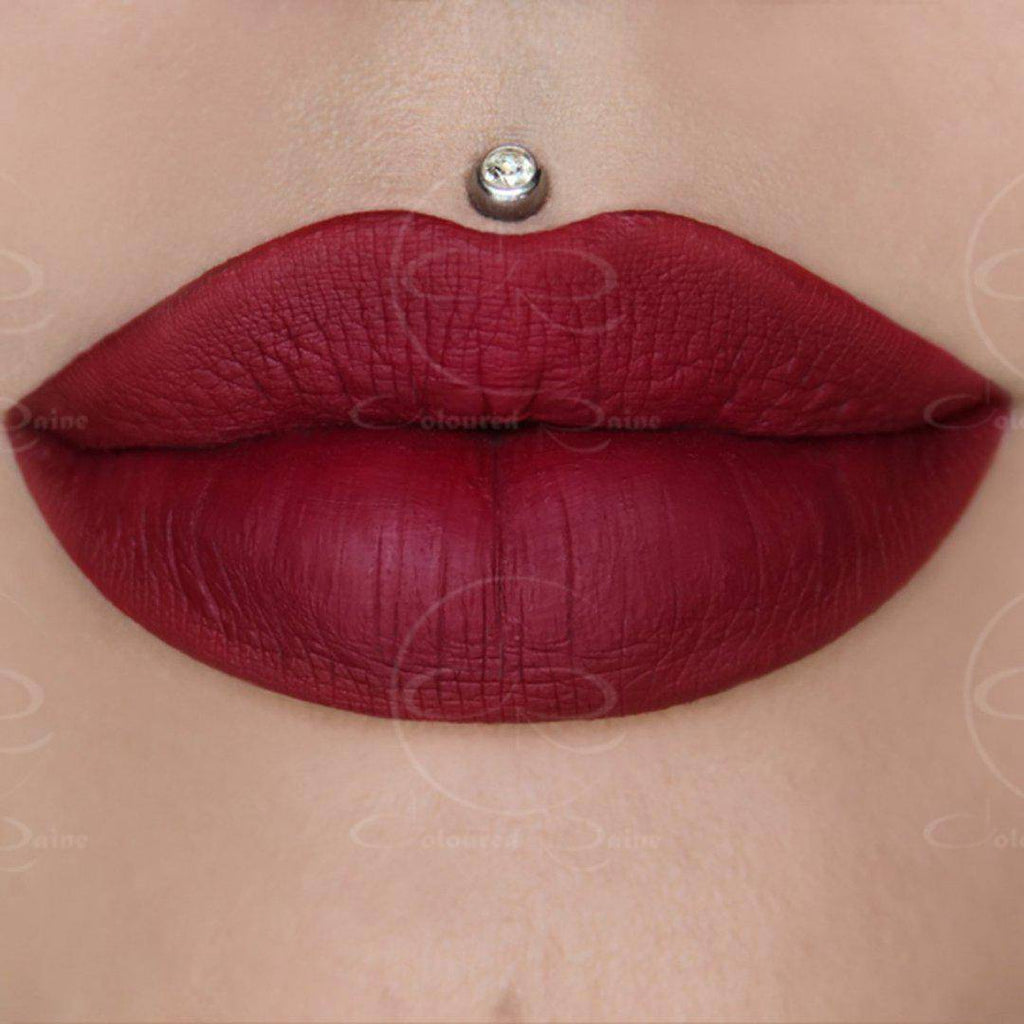 Cranberry Crush is a true cranberry rose liquid lipstick by Coloured Raine Cosmetics