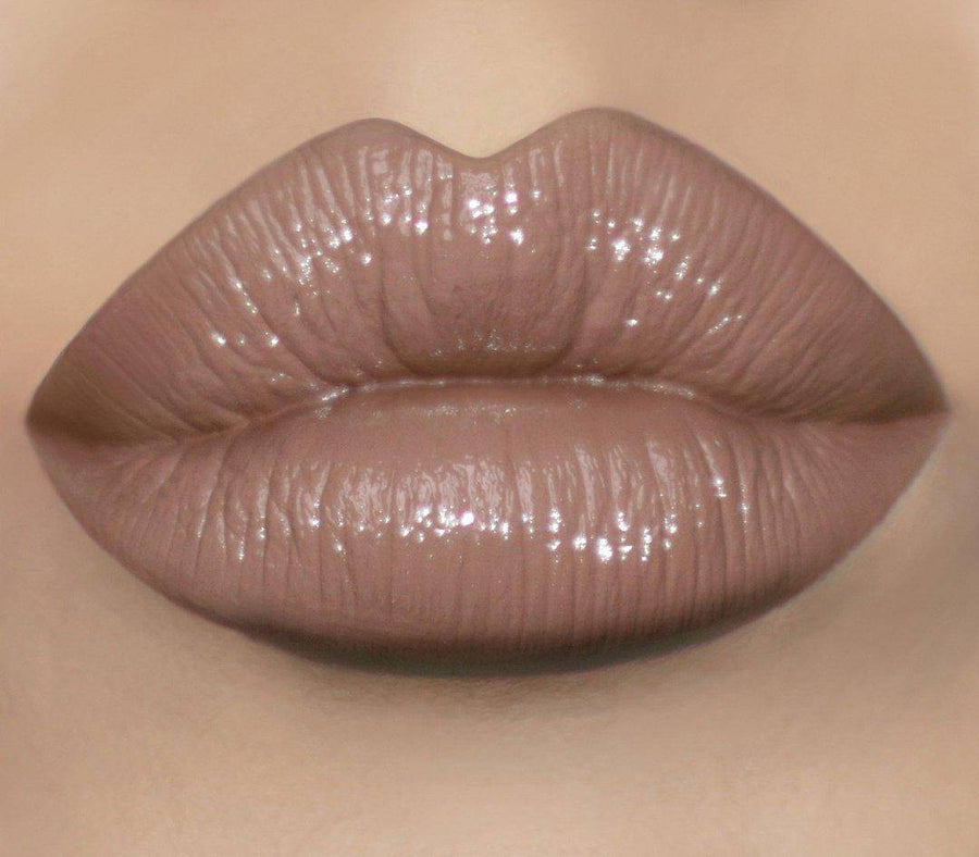 This nude lip lacquer with subtle gray, brown, and purple undertones is truly next level - Debut by Coloured Raine Cosmetics