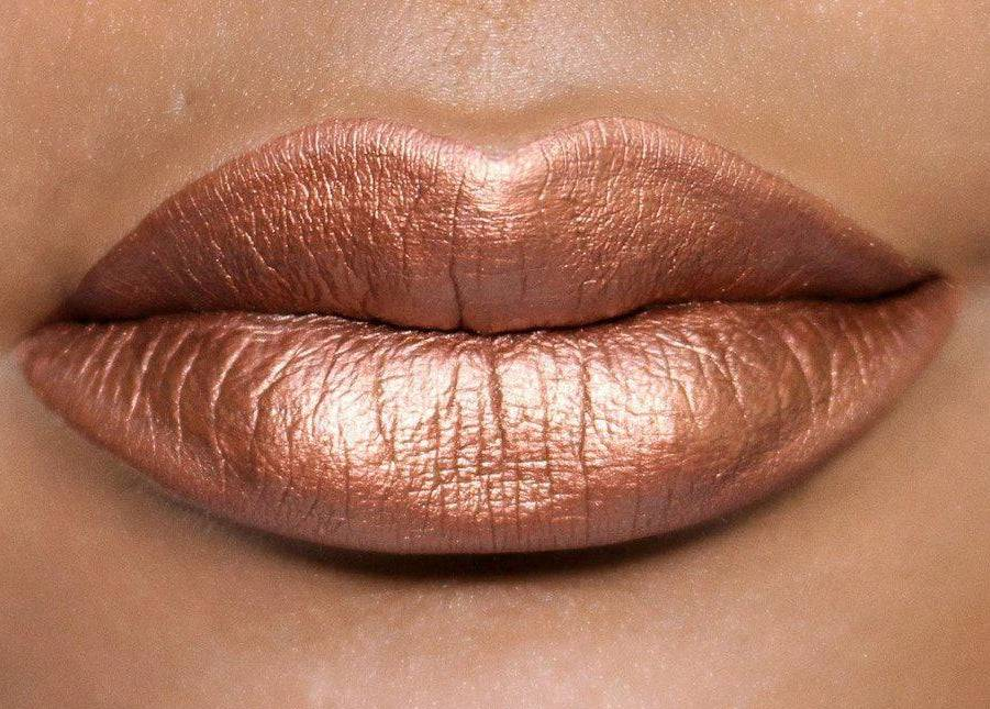 Empire - Stunning metallic bronze liquid lipstick with brown undertones.