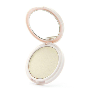 Fashion Show - high-impact duochrome highlighter by Coloured Raine Cosmetics. Open, in a circular, mirrored container.