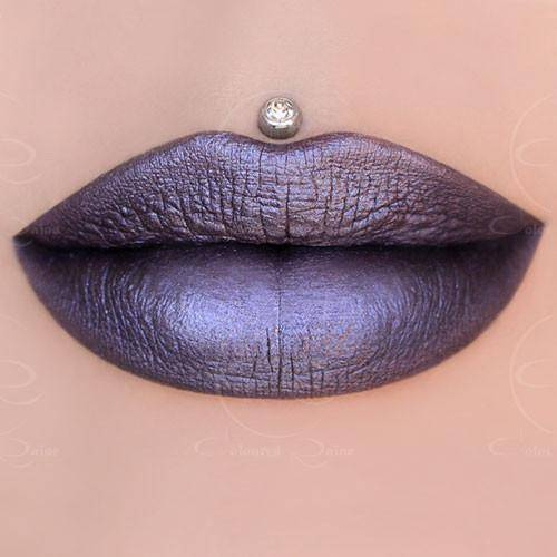 Galaxy- metallic gunmetal liquid lipstick by Coloured Raine Cosmetics