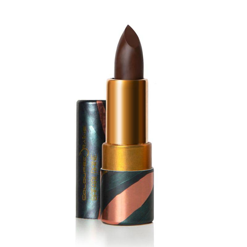 Huntress is a dark chocolate brown lipstick perfect for all skin tones - Safari Raine by Coloured Raine Cosmetics