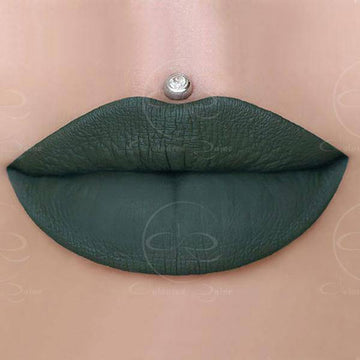 Ivy hunter green liquid lipstick by Coloured Raine Cosmetics