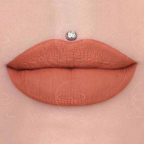 Pebbles muted salmon liquid lipstick by Coloured Raine Cosmetics